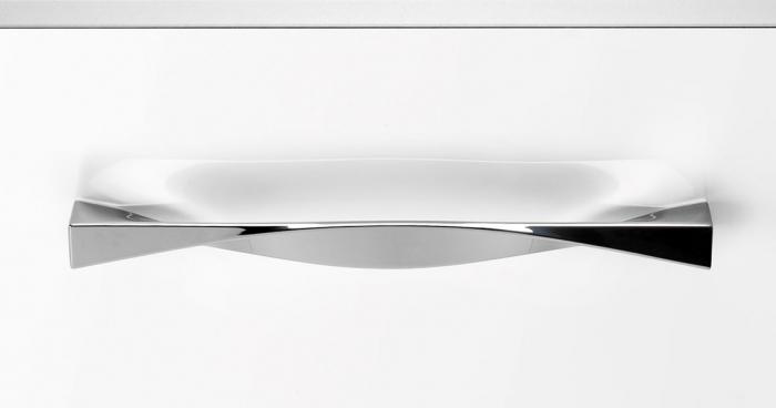 Maner pentru mobilier Twisted, finisaj crom lustruit, L:170 mm 1