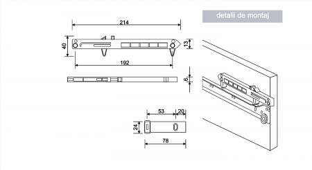 Amortizor pentru sertare set 2 bucati1