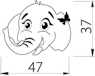 Buton copii elefant1