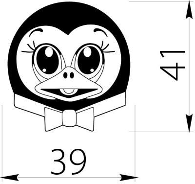 Buton copii pinguin1
