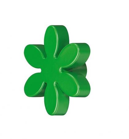 Buton floare verde pentru mobilier copii0