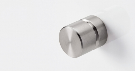 Buton pentru mobila Acer, finisaj otel inoxidabil periat, D:23 mm [1]