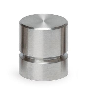 Buton pentru mobila Acer, finisaj otel inoxidabil periat, D:23 mm [0]