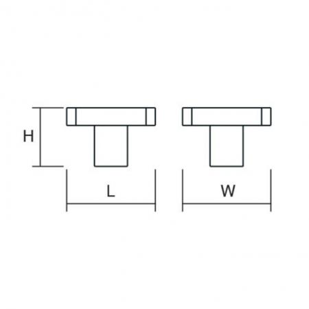 Buton pentru mobila Quattro, finisaj negru/nichel periat, L:28 mm [1]