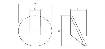 Buton pentru mobila Topo, finisaj gri/verde, D:80 mm [5]