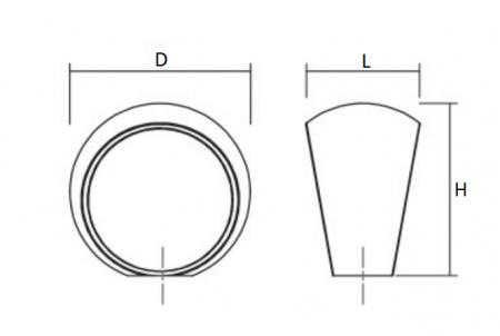 Buton pentru mobilier Ball nichel periat D:23.3 mm1