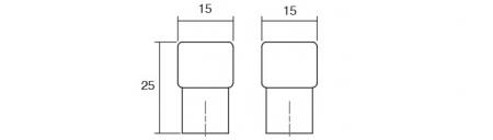 Buton pentru mobilier Boxx crom mat1