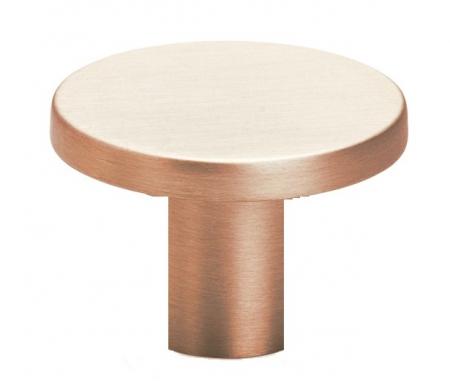Buton pentru mobilier Como Big, cupru periat, D 41 mm [0]
