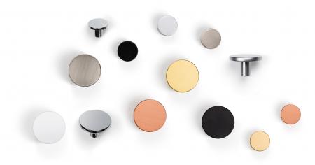 Buton pentru mobilier Como Big, negru mat, D: 41 mm [1]