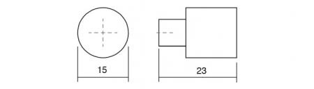 Buton pentru mobilier One crom lustruit1