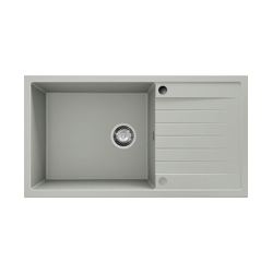 Chiuveta cu blat dreapta/stanga  gri metalic 80 cm/49 cm (228)2