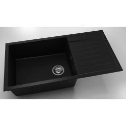 Chiuveta cu blat dreapta/stanga negru metalic 95 cm/49 cm (230)0