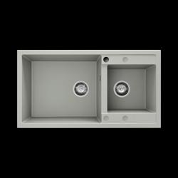 Chiuveta cu doua cuve negru metalic 90 cm/49 cm (234)1