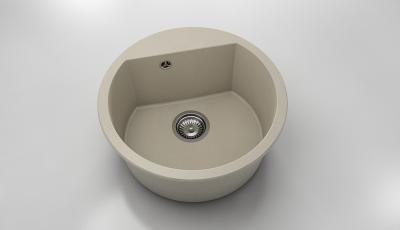 Chiuveta rotunda bej inchis Ø 51 cm (223) [0]