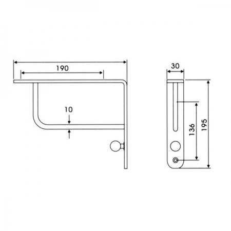 Consola, suport raft inox satinat 2 [1]