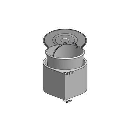 Cos de gunoi alb 13 l incorporabil in dulap de bucatarie [2]