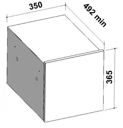 Cos de gunoi incorporabil ecologic din otel inoxidabil cu un compartiment de 34 l1