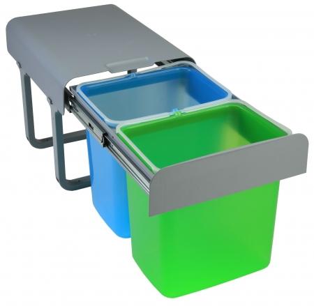 Cos de gunoi incorporabil Ekko  cu 2 compartimente x 16 litri0