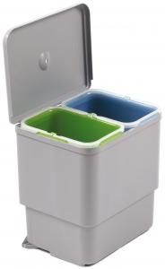 Cos de gunoi Sesamo incorporabil in dulap, cu 2 compartimente x 8 L, pentru corp de 450 mm latime0
