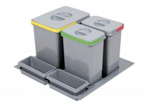 Cos de gunoi Praktico incorporabil in sertar, cu 3 recipiente, pentru corp de 600 mm latime H:300mm0