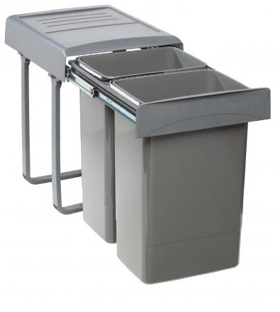Cos de gunoi  Mega incorporabil, colectare selectiva,  cu 2 compartimente x20 litri0