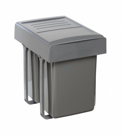 Cos de gunoi  Mega incorporabil, colectare selectiva,  cu 2 compartimente x20 litri1