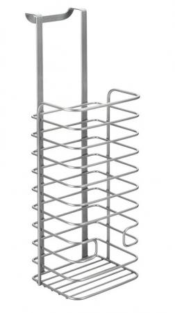 Cos organizare depozitare pungi, gri, 12x12x36 cm2