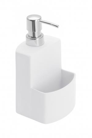 Dispenser sapun lichid cu suport burete, alb festival0
