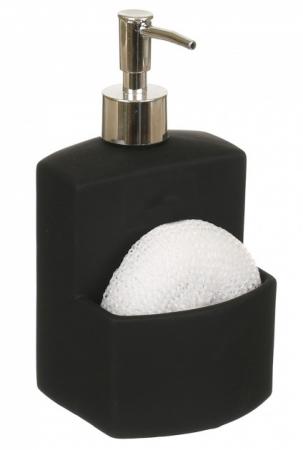 Dozator detergent lichid cu burete, negru0