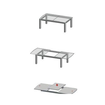 Extensie de masă L 1350 mm, sincron cu blocare1