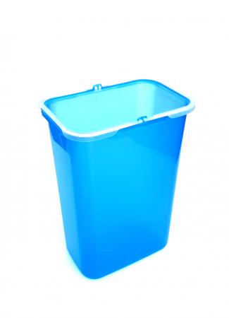 Galeata de schimb 8 l pentru cos de gunoi, albastra0