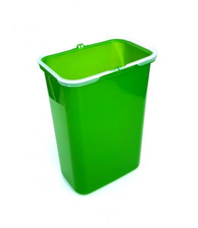 Galeata de schimb 8 l pentru cos de gunoi, verde0