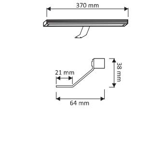 Lampa LED Polistar 370 mm1