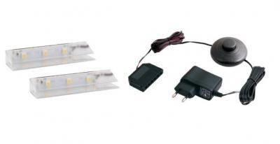 LED 2 pentru polita sticla clip plastic0