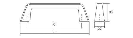 Maner pentru mobila Arrow, finisaj nichel periat, L:223 mm1
