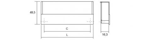 Maner pentru mobila Flat, finisaj nichel periat, L:174.8 mm [1]