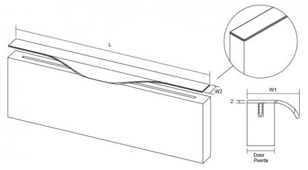 Maner pentru mobila Forma, finisaj otel inoxidabil, L:397 mm [7]