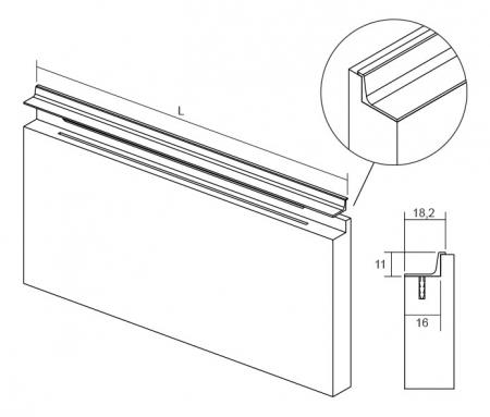 Maner pentru mobila Grada, finisaj negru mat, L:297 mm [1]