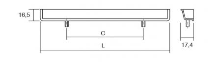 Maner pentru mobila Hide, finisaj crom lucios, L:180 mm [1]