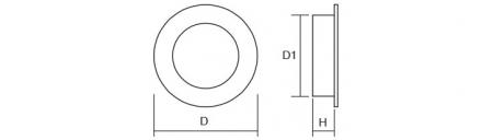 Maner pentru mobila ingropat Radi, finisaj otel inoxidabil periat, D:65 mm [2]