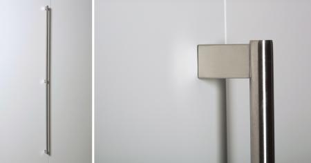 Maner pentru mobila Kombi Long, finisaj otel inoxidabil periat, L:814 mm [1]