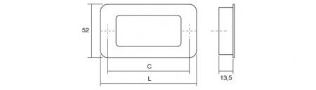 Maner pentru mobila Low ST, finisaj crom lucios, L:206 mm [2]