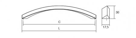 Maner pentru mobila Smee, finisaj nichel periat, L:166 mm [3]
