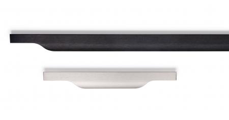 Maner pentru mobila Vector, finisaj negru periat, L:1197 mm [1]