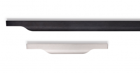 Maner pentru mobila Vector, finisaj negru periat, L:297 mm [1]