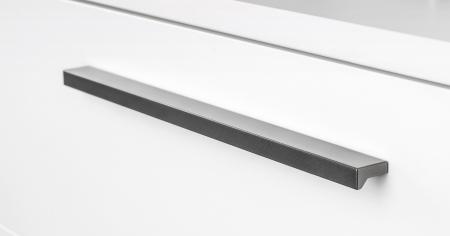 Maner pentru mobilier Angle, finisaj gri metalizat, L: 400 mm1