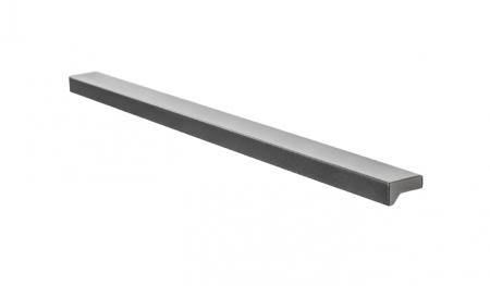 Maner pentru mobilier Angle, finisaj gri metalizat, L: 400 mm0