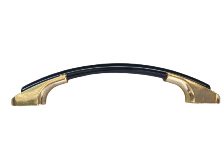 Maner pentru mobilier Arlo, finisaj negru/auriu, L:120 mm2
