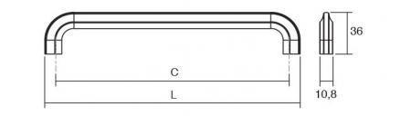 Maner pentru mobilier Asi, L:338 mm, negru mat1