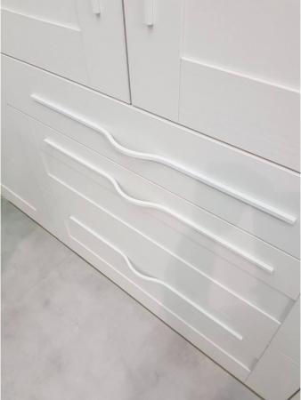 Maner pentru mobilier Brave alb mat, L= 400 mm2